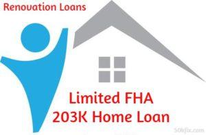 Limited FHA 203K Home Loan