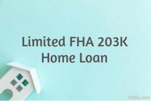 Limited FHA 203K Home Loan Light Blue