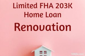 Limited FHA 203K Home Loan Renovation Pink