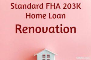 Standard FHA 203K Home Loan Renovation Pink