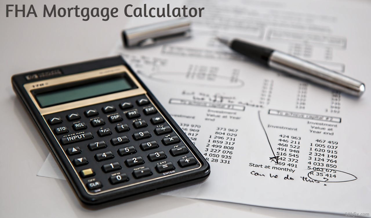 FHA Mortgage Calculator - Calculate FHA Home Loan Payments With 2020 Updated Html Software - Calculates: Interest, PMI And Taxes