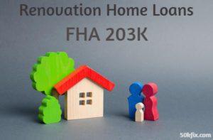 renovation home loans fha 203k loan