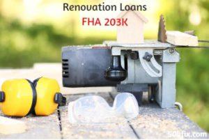 renovation loans fha 203k