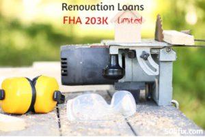 renovation loans fha 203k limited