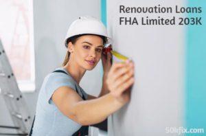 renovation loans fha limited 203k