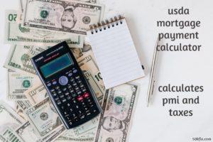 usda mortgage payment calculator